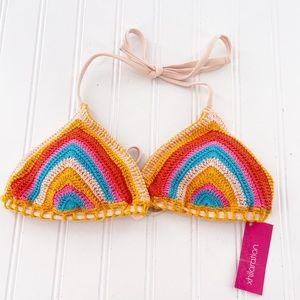 Bikini crocheted colorful bikini top boho